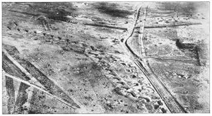 World War 1 Picture - The Hindenburg Line at Bullecourt seen from the air in 1920