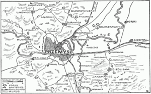 World War 1 Picture - Przemysl and surrounding forts