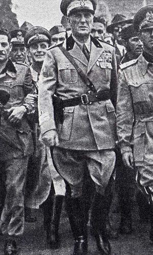 World War 1 Picture - Marshal Rodolfo Graziani, when was Minister of Defense of the