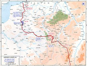 World War 1 Picture - Map of the Western Front, 1915-16