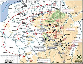 World War 1 Picture - Under the Schlieffen Plan, Germany sought to bypass the French defences by moving through Luxembourg and Belgium.