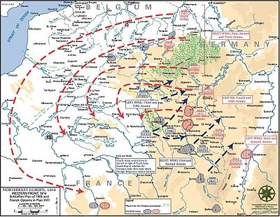 World War 1 Picture - The Schlieffen Plan, the war-plan for the German Empire against the Entente, which required a defeat of France within forty days of mobilization in order to defeat the Russian Empire in succession. Thus, Moltke and Falkenhayn recommended to the Kaiser a preemptive attack against France, Luxembourg and Belgium when war against Russia (and therefore, her ally France) appeared imminent.