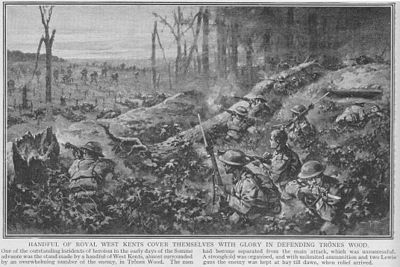 World War 1 Picture - Battles in Trx�nes Wood
