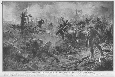 World War 1 Picture - Fighting in Delville Wood