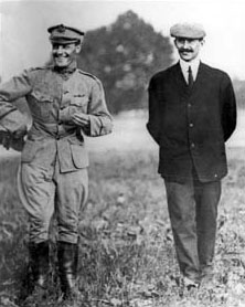 World War 1 Picture - Lt. Foulois and Orville Wright in 1909.