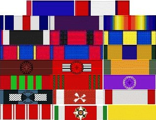 World War 1 Picture - General Pershing's ribbons as they would appear today