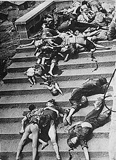 World War 1 Picture - Casualties of a mass panic during a Japanese air raid in Chongqing[citation needed]