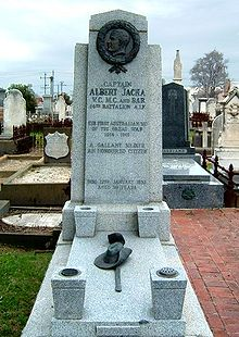World War 1 Picture - The grave of Albert Jacka, VC, in St Kilda cemetery, Melbourne.
