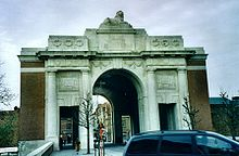World War 1 Picture - The Menin Gate Memorial, in Ypres, Belgium.