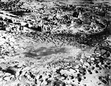 World War 1 Picture - The remains of German town of Wesel after intensive allied area bombing in 1945 (destruction rate 97% of all buildings)