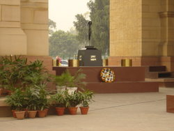 World War 1 Picture - The Amar Jawan Jyoti (the flame of the immortal warrior) in Delhi, India.