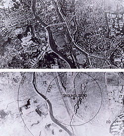 World War 1 Picture - Nagasaki before and after bombing