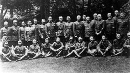 World War 1 Picture - Officers of the American Expeditionary Forces and the Baker mission