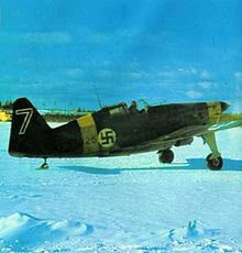 World War 1 Picture - Finnish Morane-Saulnier MS.406, MS-325 of 2/LeLv 28, based at Viitana, winter 1941-1942