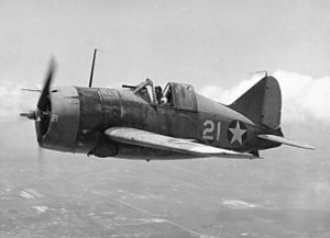 Airplane Picture - Brewster F2A-3 in flight.