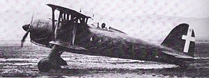 World War 1 Picture - A Fiat CR.42 in Regia Aeronautica service.