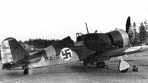 Airplane Picture - Fiat G.50 in Finnish markings