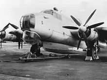Airplane Picture - Mark 3 airborne lifeboat fitted underneath an Avro Shackleton