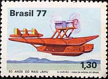 Airplane Picture - S.55 Stamp