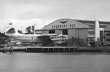 Airplane Picture - Saro Princess G-ALUN at the East Cowes works in September 1954