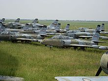 Airplane Picture - Several J-21s at the Museum of Aviation in Belgrade