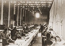 Airplane Picture - Prisoners building airplane parts at Siemens-Schuckert factory at Bobrek.