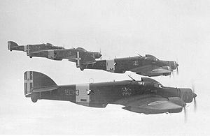 Airplane Picture - A flight of four SM.79s showing their rear-cockpit mounted machine guns.