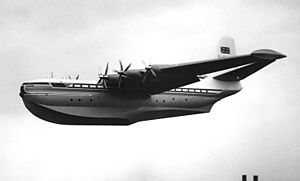 Airplane Picture - Saunders-Roe Princess G-ALUN displaying at the Farnborough SBAC Show in September 1953
