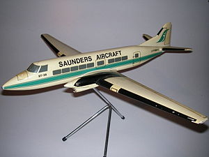 Airplane Picture - Saunders ST-28 factory desk model