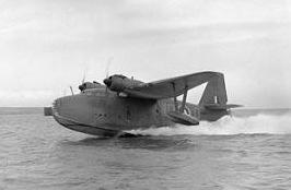 Airplane Picture - Lerwick L7265, of 209 Squadron. Taking off from Loch Ryan, March 1941