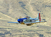Airplane Pictures - A T-51 Mustang at an airshow in New Zealand