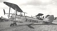 Airplane Picture - DH.60G-III Moth Major G-ADHE at Coventry in June 1954