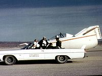 Airplane Picture - The M2-F1 and its 1963 Pontiac convertible tow vehicle