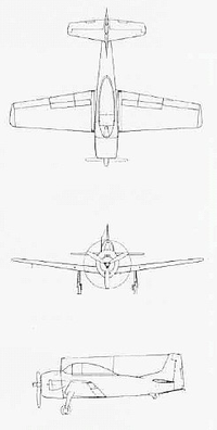 Airplane Picture - Three-view of XSN2J-1
