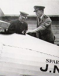 Warbird Picture - Captain Sempill showing a Sparrowhawk to Admiral Togo Heihachiro, 1921