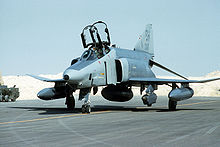 Airplane Picture - RF-4C Phantom II parked after returning from a mission during Operation Desert Storm