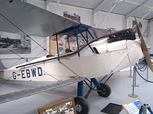 Airplane Picture - G-EBWD, displayed at the Shuttleworth Collection near Old Warden