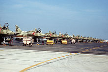 Airplane Picture - Kuwaiti A-4KUs on the flight line in 1991