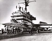 Airplane Picture - An A3J-1 during trials on USS Saratoga, 1960.