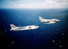 Airplane Picture - A4D-2 refueling a F8U-1P