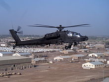 Airplane Picture - AH-64D Longbow Apache over Taji, Iraq 2006