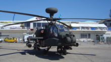 Airplane Picture - An AH-64 Apache at the 2005 Paris Air show