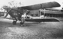 Airplane Picture - Amy Johnson and Jason, a DH.60G Gipsy Moth, in Jhansi, India in 1930