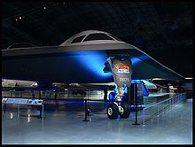 Airplane Picture - Mockup of a B-2 Spirit on display at the National Museum of the United States Air Force