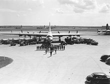 Airplane Picture - Personnel and equipment required to get and keep a B-36 aircraft in the air