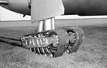 Airplane Picture - Closeup of experimental tracked landing gear