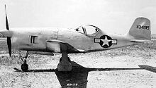 Warbird Picture - Bell XP-77 side view.