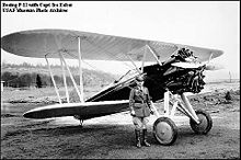 Airplane Picture - Boeing P-12 with Captain Ira Eaker