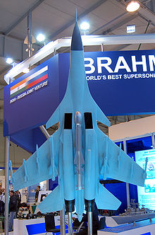 Airplane Picture - Brahmos missile under Su-30MKI maquette at MAKS-2009