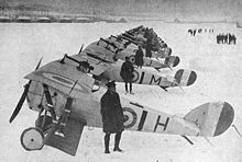 Airplane Picture - 27 December 1917: No.1 RAF Squadron with Nieuport 27s and Nieuport 24s at Bailleul.[1]